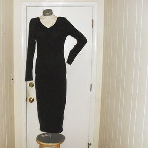 NWT Grey Ribbed Sweater Dress Size Lg